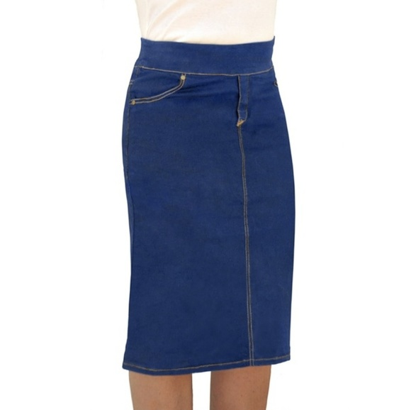 a64196d96cea Kosher Casual Skirts | Jean Knee Length Modest Pencil Skirt | Poshmark